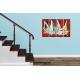Tableau d'artiste Raging sea (quadriptyque rouge)