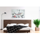 Chambre moderne Busy sea (tableau gris)