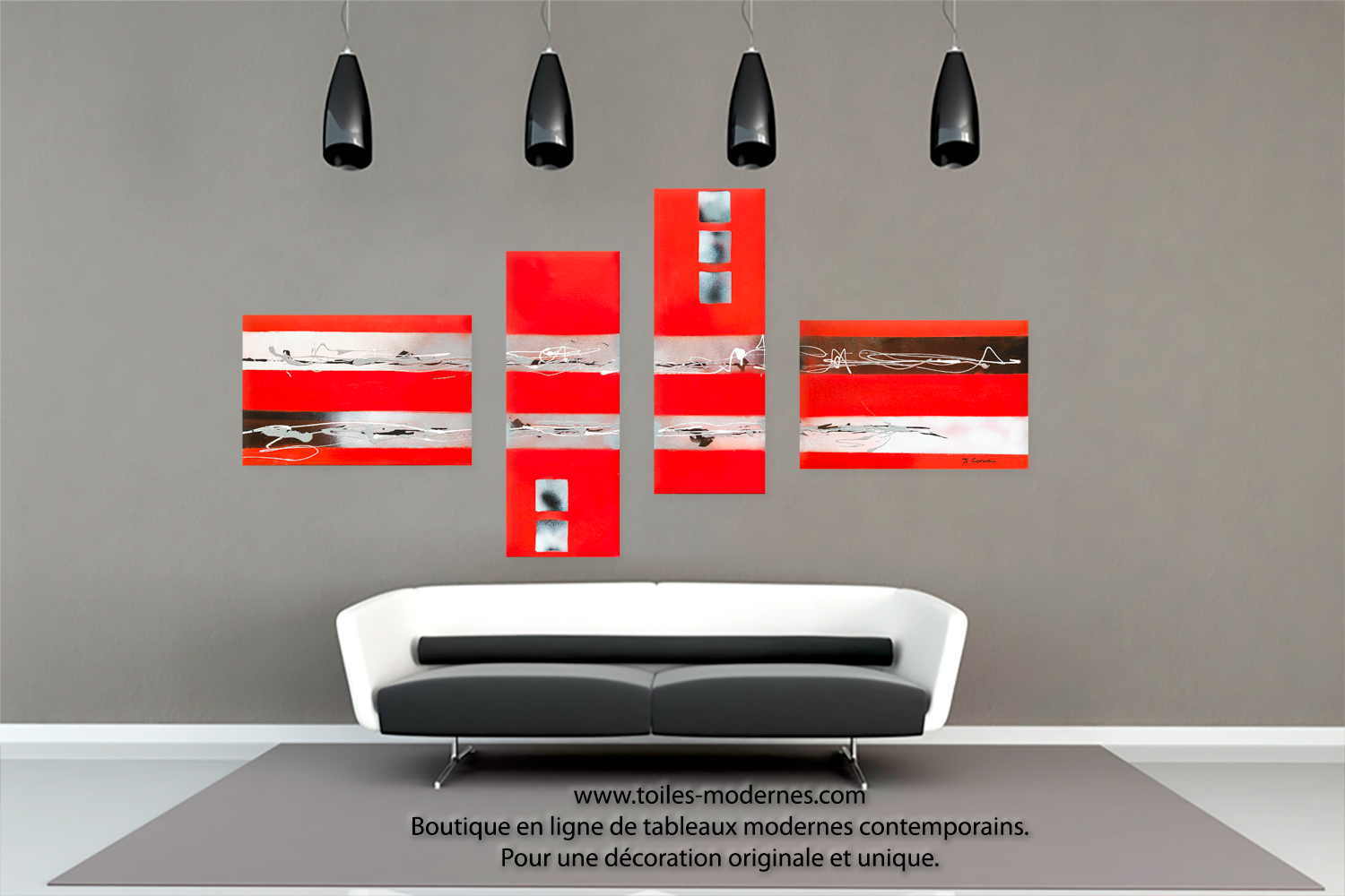 Best tableau salon rouge pictures awesome interior home for Salon de te