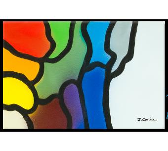 Tableau Déco moderne colorée Une nouvelle vie moderne