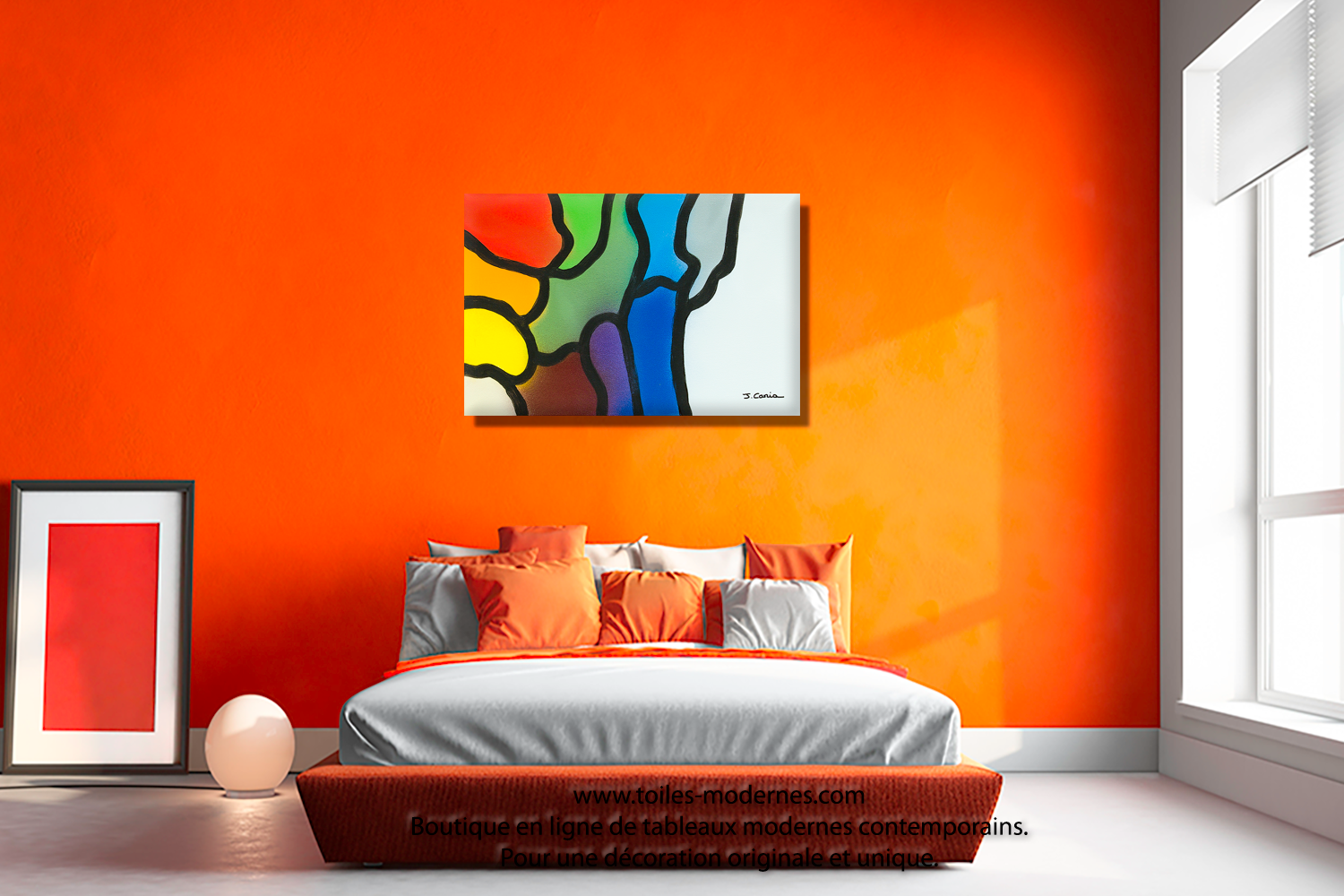 Awesome Decoration Chambre Orange Et Gris Contemporary - House ...