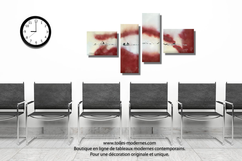 tableau bordeaux gris grande d coration murale panoramique nouvelle vie dans l 39 espace. Black Bedroom Furniture Sets. Home Design Ideas