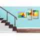 Tableau déco escalier Une planète colorée