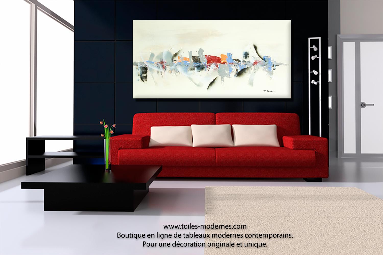 peinture pour salon moderne. Black Bedroom Furniture Sets. Home Design Ideas