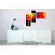 Tableau coloré au-dessus d'un meuble Une vie toute en couleurs