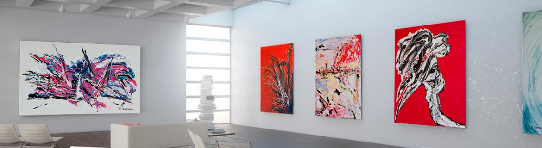 tableaux contemporains prêt à poser